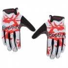 Bodun Bicycle Cycling Full-finger Glovers - Black + Red + White (L / Pair)
