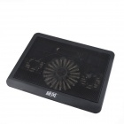"Weifeng HH-005 USB 2.0 Cooling Pad 3-Fan Cooler w/ 4-LED for 15"" Laptop Notebook - Black"