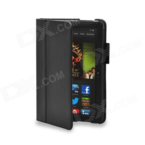 Protective PU Leather Case Cover Stand for Amazon Kindle Fire HDX 8.9 - Black kindle fire 7 case 2017 shockproof heavy duty silicon case protective full body case cover for amazon kindle fire 7 2017 funda