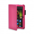 "Protective PU Leather Case Cover Stand for Amazon Kindle Fire HDX 8.9"" - Deep Pink"