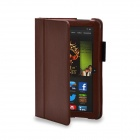 "Protective PU Leather Case Cover Stand for Amazon Kindle Fire HDX 8.9"" - Brown"