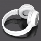 Rechargeable Bluetooth V2.1+EDR Stereo Headphone w/ LCD Screen / TF / FM - White + Silver