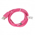 USB 2.0 Male to Micro USB Male Data/Charging Plastic Cable for Tablet PC+ More - Deep Pink (100cm)