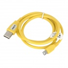 USB 2.0 Male to Micro USB Male Data/Charging Plastic Cable for Tablet PC+ More - Yellow (100cm)
