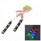 Wasserdicht 1.2W 30lm 6-SMD 5050 LED RGB Auto Dekoration Light Strip (12V)