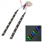 Wasserdicht 2.4W 40lm 12-SMD 5050 LED RGB Auto Dekoration Light Strip (12V)