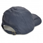 Outdoor Quick-dry Folding Dacron Peaked Cap Hat - Deep Blue