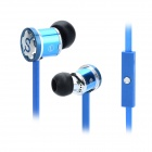 DONSCORPIN Bass Colour In-Ear Earphone w/ Mic / Control for Iphone / Samsung + More - Blue