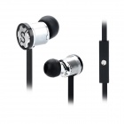 DONSCORPIN Bass Colour In-Ear Earphone w/ Mic / Control for Iphone / Samsung + More - Black + Silver