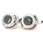 "35W 4300K Yellow HID Lenses / 3.0"" Dual-Angel Eye Blue + Red Car Lights Set (12V)"