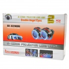 "35W 4300K ​​HID Lentes Yellow / 3.0 ""Dual-Angel Blue Eye + Red Car Luzes Set (12V)"