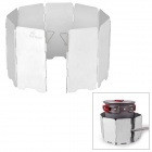 Fire-Maple FMW-503 Outdoor Portable 5-Folding 9-Section Camping Cooking Stove Windshield - Silver