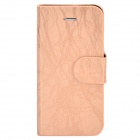 FLOWER SHOW Protective PU Leather Case for Iphone 5 - Light Gold