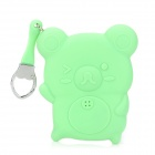 GEL100604 Cute Mouse Style Silicone Key Pouch Case - Light Green