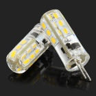 G4-2W-WW-3014 G4 (MR11) 2W 130lm 3500K 24-SMD Warm White Light Crystal Lamps - White (2 PCS)