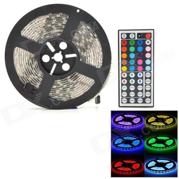 Waterproof 72W 4000lm 300-SMD 5050 LED RGB Car Light Strip w/ Remote Controller (12V / 5m) 72w 3600lm 5050 300 smd rgb light strip w remote controller power adapter set white black