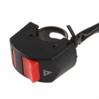 Jtron Double Flash Controller Switch - Black + Red (100cm-Cable / 12V / 20A)