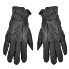 YILU ST207 Sheepskin Leather Full-Finger Gloves for Touch Screen Device - Black (Pair)