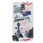 UMKU Australian Customs Protective PC Back Case for Samsung Galaxy Note 3 N9000 - Multicolored