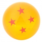 Q76-4 Four Stars Resin Acrylic Ball Toy - Orange