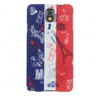 UMKU French Flag Style Protective PC Back Case for Samsung Galaxy Note 3 N9000 - Red + Blue + White