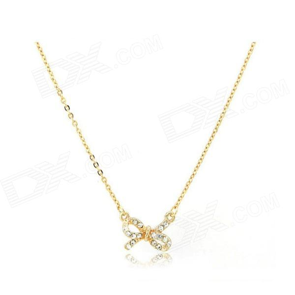 Fashionable Pretty Dominate Butterfly Knot Women's Necklace - Golden женская рубашка lan color butterfly pretty dl539 2015