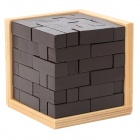 54-in-1 Basswood Puzzle Educational IQ Toy for Kids - Black + Wood