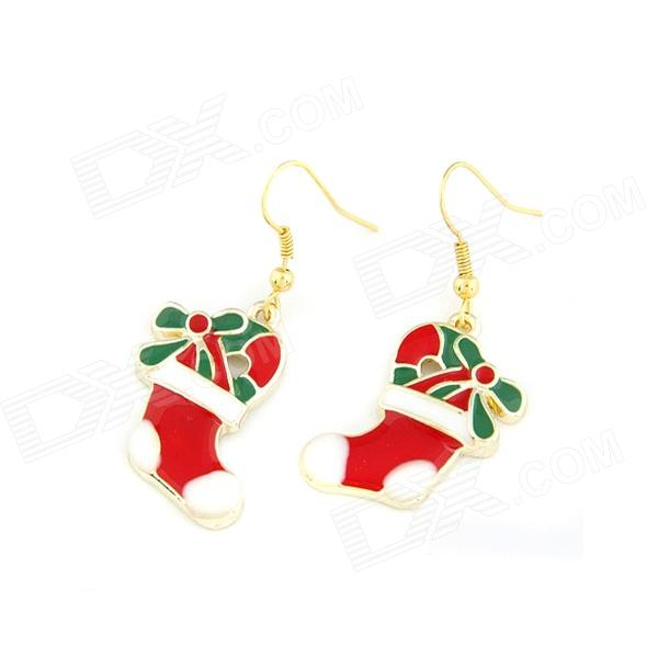 Christmas Boots Style Zinc Alloy Women's Earrings - Multicolored (Pair)