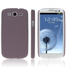 ENKAY Quicksand Style Protective Plastic Back Case for Samsung Galaxy S3 i9300 - Brown