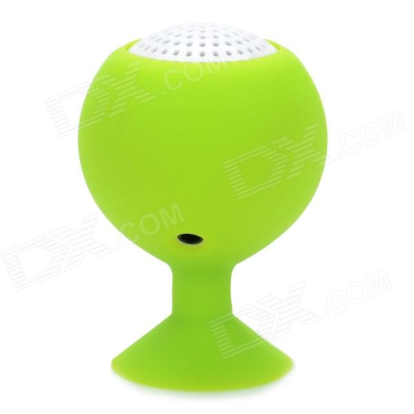 Cute Suction Cup Stand Design Mini Audio Music Speaker for Iphone / Ipad - Green + White