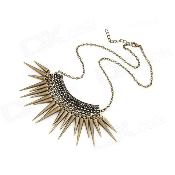Euramerican Vintage Character Rivets Women's Necklace - Bronze promotion bronze with white glass dome dr doctor who design pocket watch necklace vintage pendant wholesale price fast shipping