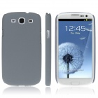 ENKAY Quicksand Style Protective Plastic Back Case for Samsung Galaxy S3 i9300 - Grey