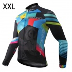 Spakct Men's Stylish Long Sleeve Dacron Cycling Jersey - Multicolor (XXL)