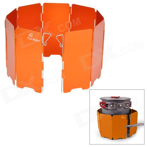 Fire-Maple FMW-503 Outdoor Portable 5-Folding 9-Section Camping Cooking Stove Windshield - Orange fire maple x2 portable gas stove burner 1l 600g fms x2 hand held personal cooking system outdoor hiking camping equipment oven