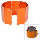 Fire-Maple FMW-503 Outdoor Portable 5-Folding 9-Section Camping Cooking Stove Windshield - Orange