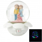 C1GL Creative Lovers Glass Ball Red Green Light Night Light - Yellow + Blue + Pink + White