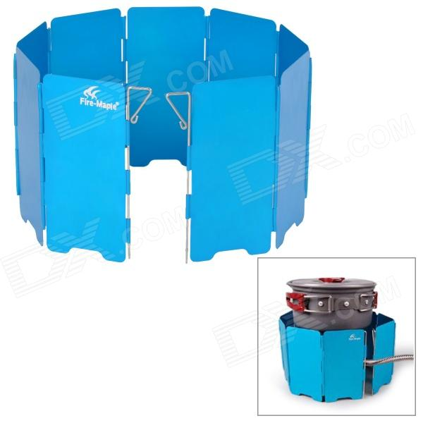 Fire-Maple FMW-503 Outdoor Portable 5-Folding 9-Section Camping Cooking Stove Windshield - Blue fire maple x2 portable gas stove burner 1l 600g fms x2 hand held personal cooking system outdoor hiking camping equipment oven
