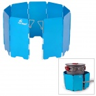 Fire-Maple FMW-503 Outdoor Portable 5-Folding 9-Section Camping Cooking Stove Windshield - Blue