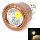 VJ E27 5W 350lm 3200K COB Warm White Light Spotlight - Bronze + Silver (90~260V)
