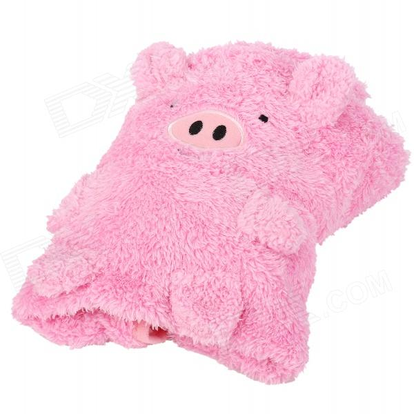HQS-G105915 Carton Pig Style Dual-use Plush Blanket Pillow - Pink popular design for eyes massage cute pink plush pig shapes eye pillow