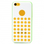 Hollow Dot Pattern Protective Plastic + TPU Back Case for iPhone 5C - White + Green
