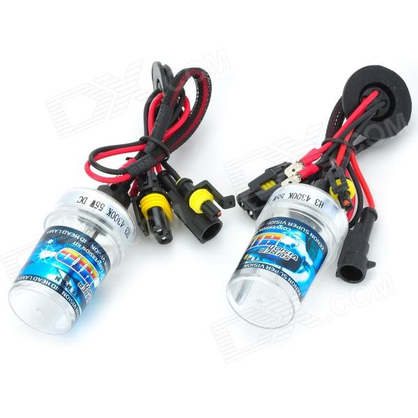 SENCART H3 55W 4500lm 4300K Shadow Yellow Car HID Headlamps (9~16V / Pair) stands a shadow