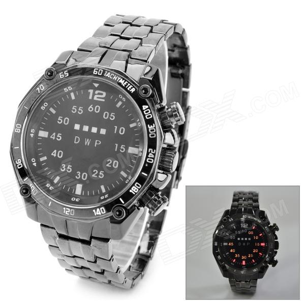 TVG KM3101 Men's Stylish Water Resistant Digital LED Wrist Watch - Black (2 x CR2016)