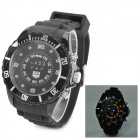TVG KM-1206 Men's Fashionable LED Digital Wrist Watch w/ Revolving Scale Ring - Black (2 x CR2016)