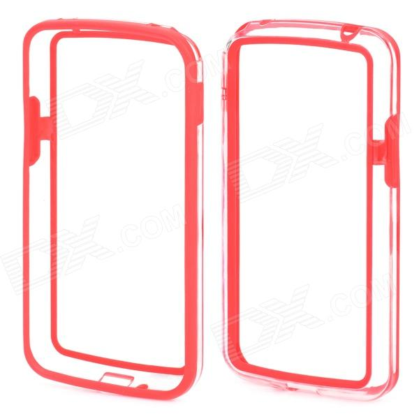 Protective TPU + PC Bumper Frame for LG E960 Nexus 4 - Red + Transparent nexus confessions volume two