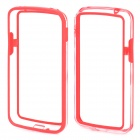 Protective TPU + PC Bumper Frame for LG E960 Nexus 4 - Red + Transparent