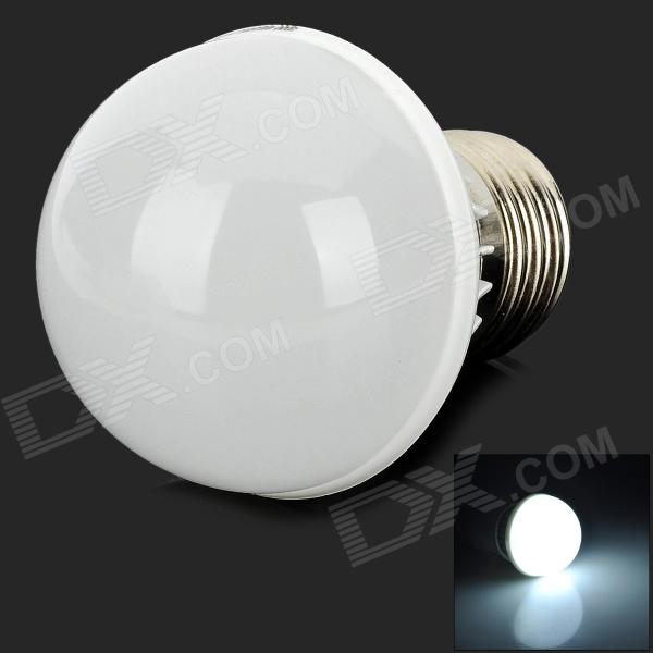 OU003-Bd E27 3W 210lm 6500K 12 SMD 2835 LED White Light Bulb - Silver + White (100~240V)