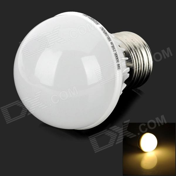 OU003-Bd E27 3W 210lm 3000K 12 SMD 2835 LED Warm White Light Bulb - Silver + White (100~240V)