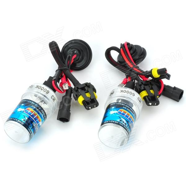 SENCART H3 35W 2800lm 6000K Shadow Yellow Car HID Headlamps (18~32V / Pair) stands a shadow