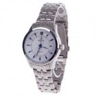 Daybird 3790 Stainless Steel Automatic Men's Wrist Watch w/ Simple Calendar - Silver + Blue + White